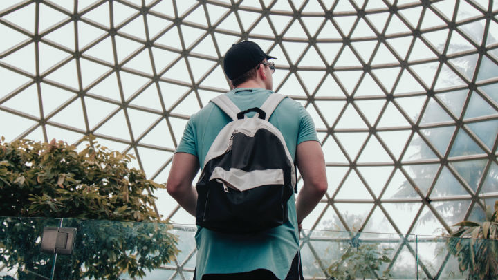 Man standing in dome in Brisbane